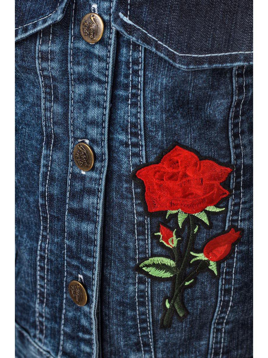 Куртка джинсовая для девочки, цвет: деним