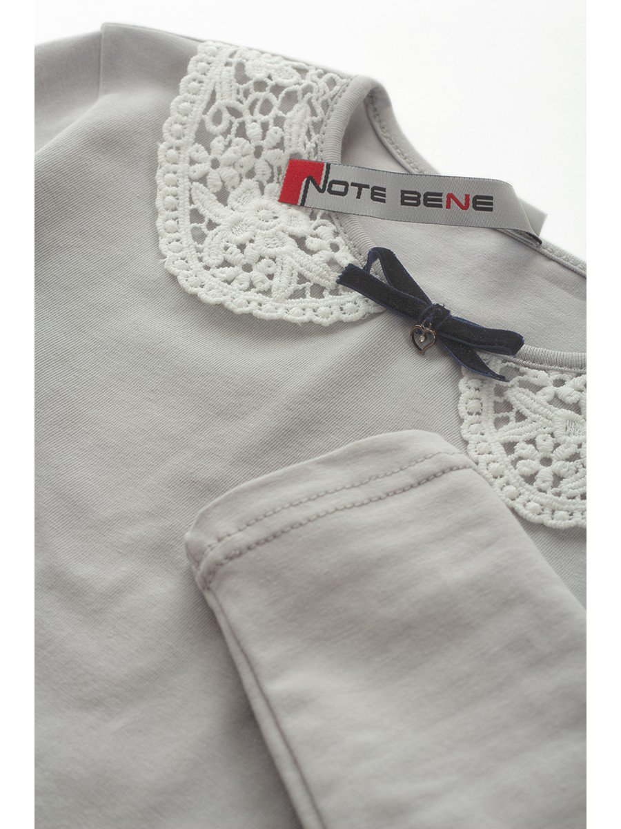 Блузка трикотажная для девочки, цвет: серый