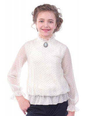 Блузка текстильная для девочек (полных)