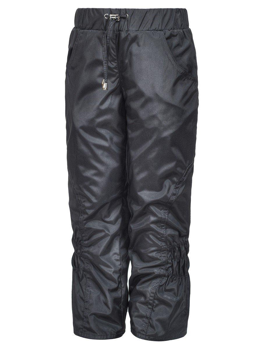 Брюки из плащевой ткани на подкладке из флиса (девочка), цвет: серый