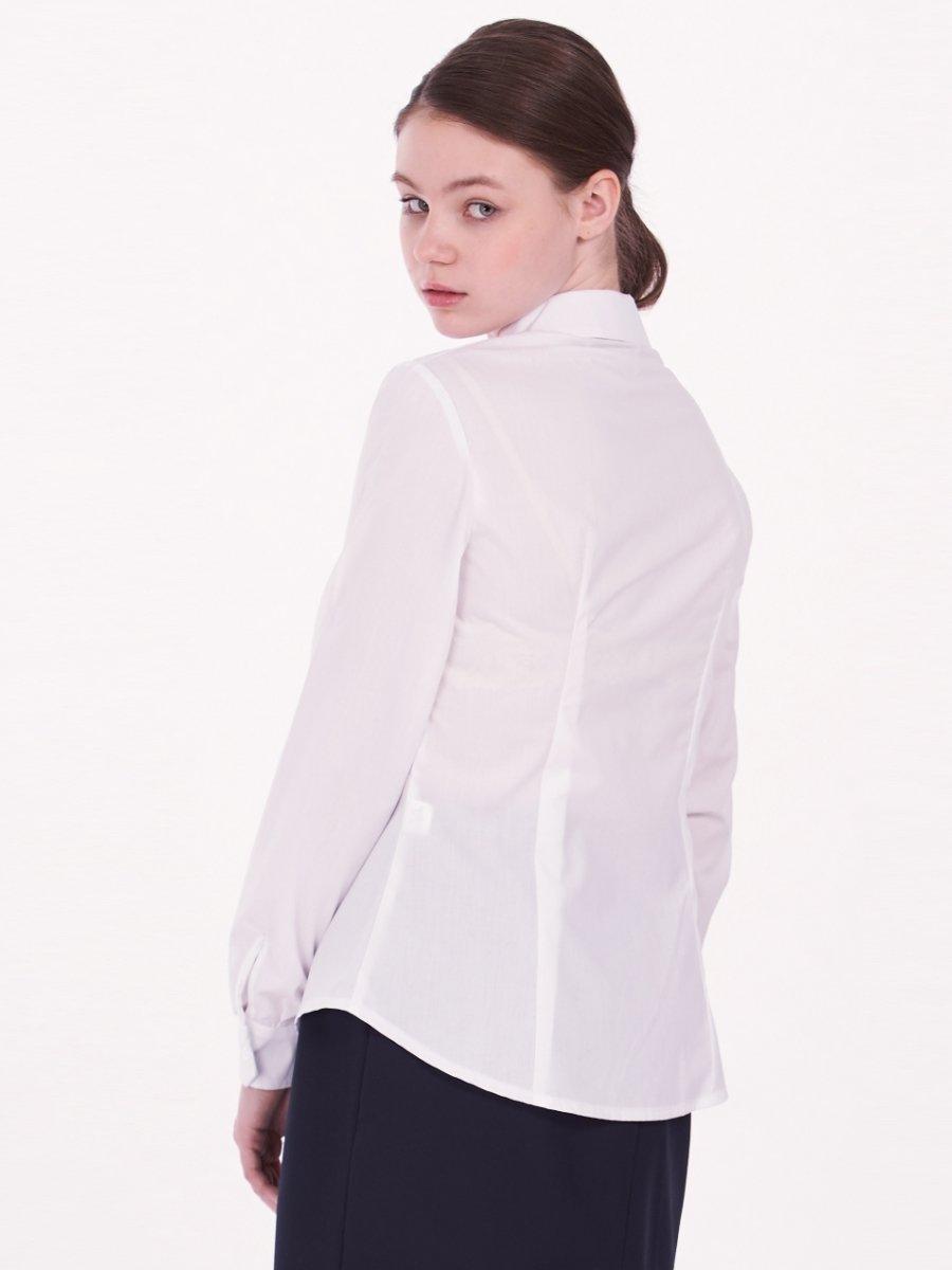 Блузка текстильная для девочки, цвет: белый