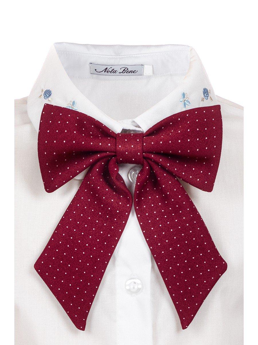 Галстук для девочки, цвет: бордовый