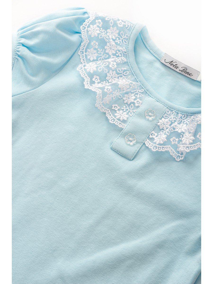 Блуза для девочки с кружевной тесьмой