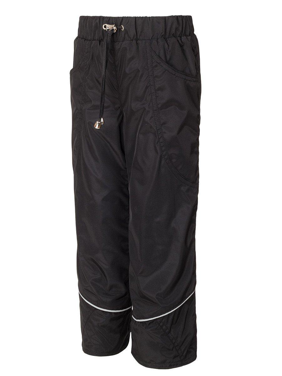 Брюки из плащевой ткани на подкладке из хлопка (девочка), цвет: черный