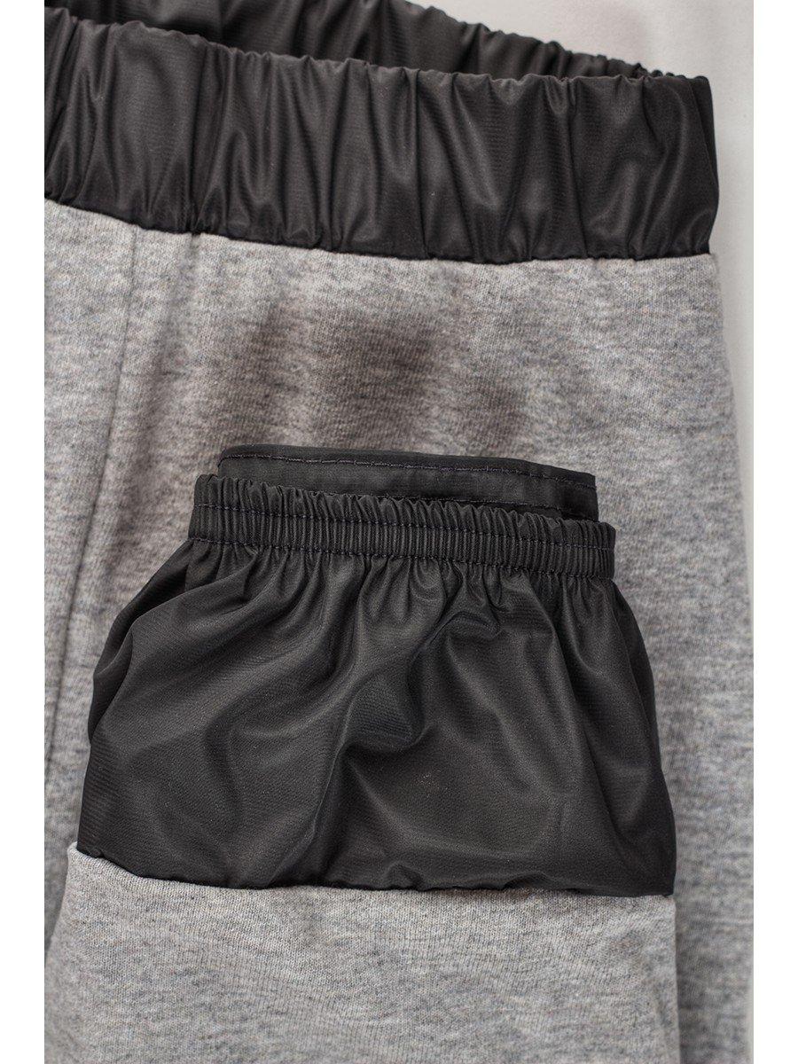 Брюки из плащевой ткани на подкладке из хлопка (девочка), цвет: серый