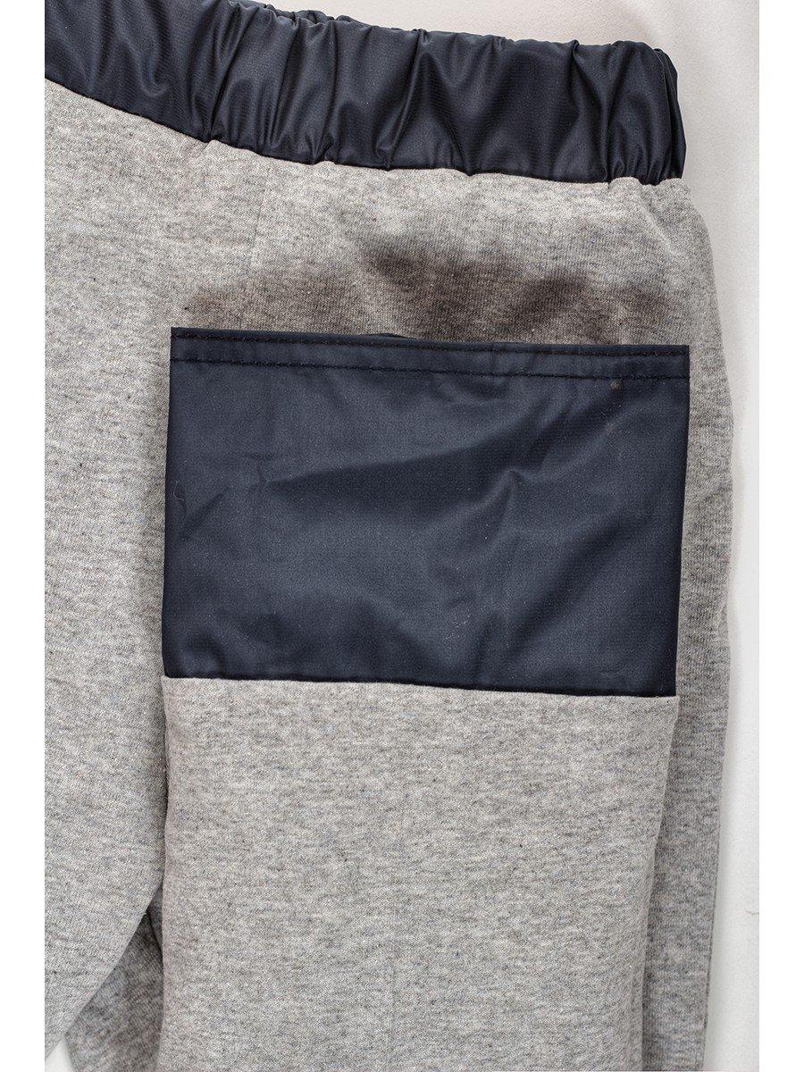 Брюки из плащевой ткани на подкладке из хлопка (девочка), цвет: синий