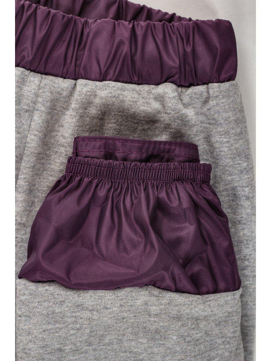 Брюки из плащевой ткани на подкладке из хлопка (девочка), цвет: фиолетовый