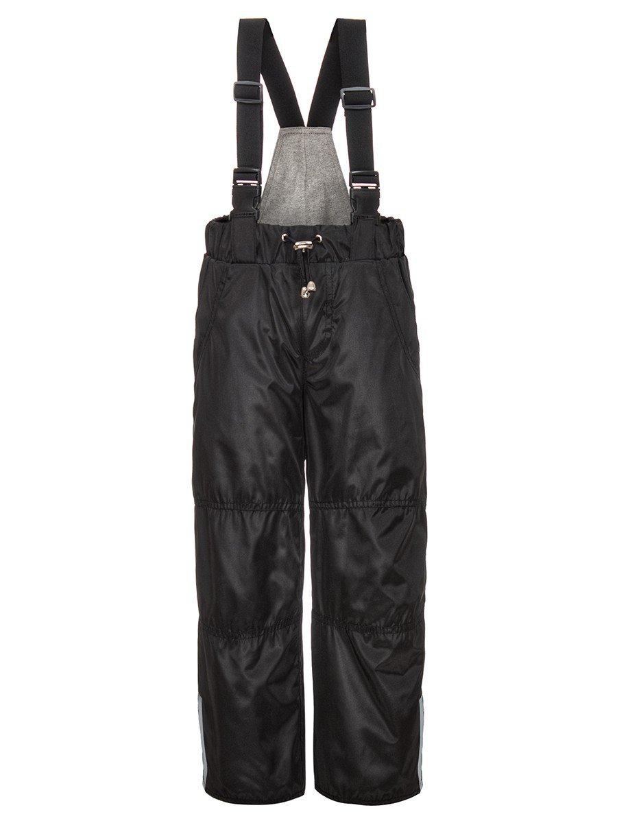 Брюки со спинкой из плащевой ткани на подкладке из хлопка (мальчик), цвет: черный