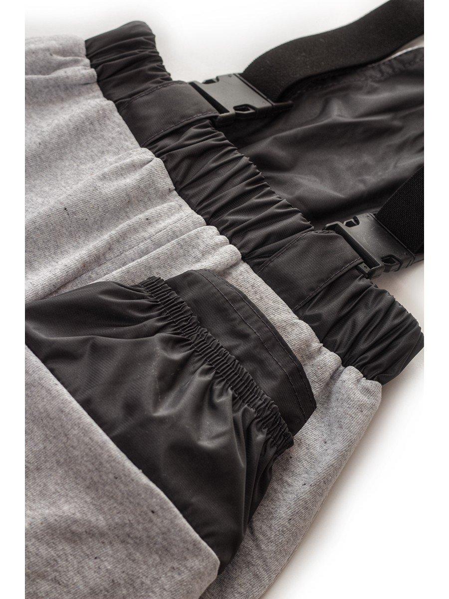 Брюки со спинкой из плащевой ткани на подкладке из хлопка (мальчик), цвет: серый