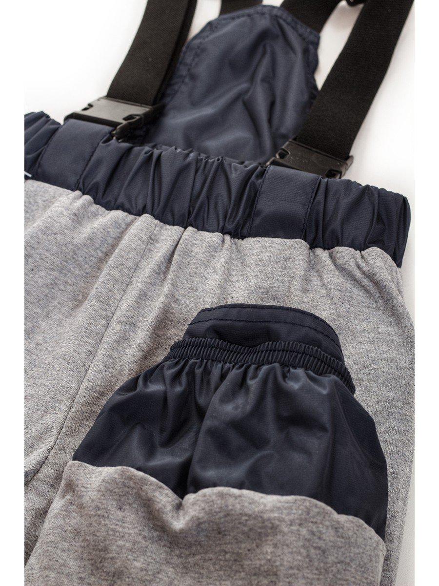 Брюки со спинкой из плащевой ткани на подкладке из хлопка (унисекс), цвет: синий