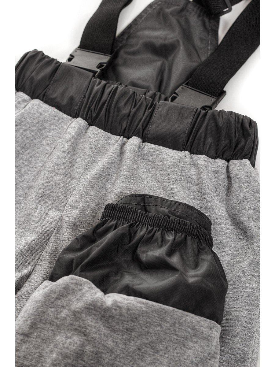 Брюки со спинкой из плащевой ткани на подкладке из хлопка (унисекс), цвет: серый