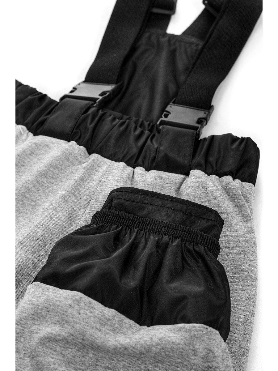 Брюки со спинкой из плащевой ткани на подкладке из хлопка (унисекс), цвет: черный