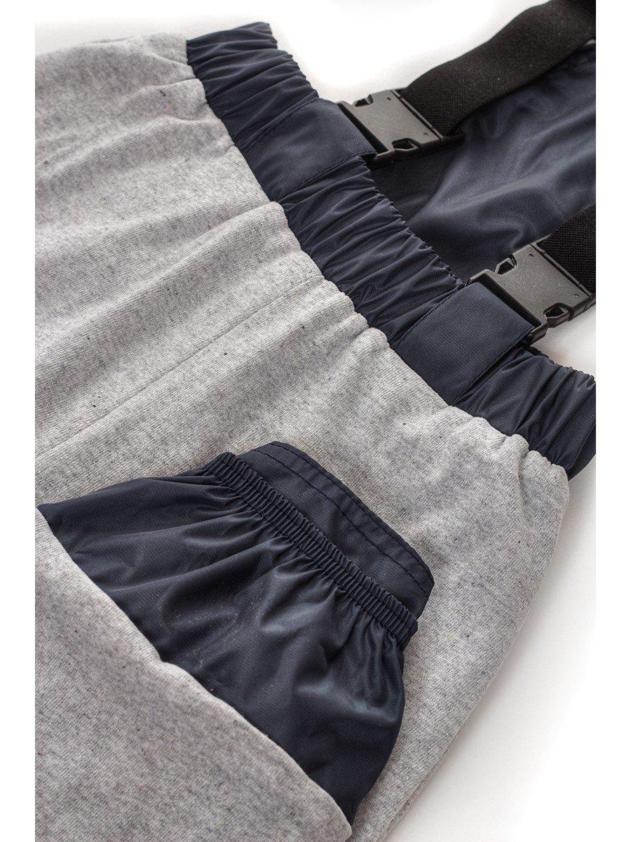 Брюки со спинкой из плащевой ткани на подкладке из хлопка (мальчик), цвет: синий