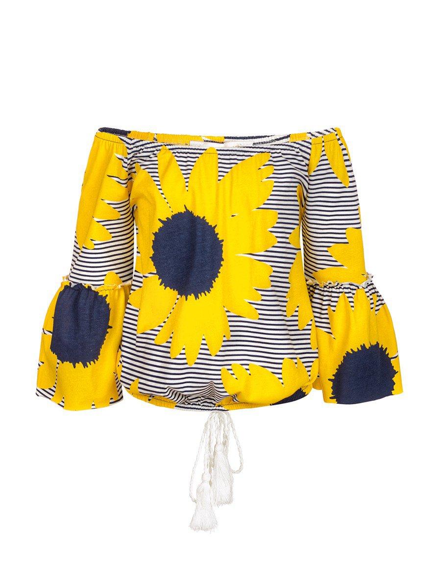 Блузка для девочки, цвет: желтый