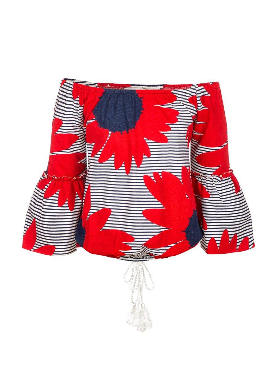 Блузка для девочки, цвет: красный