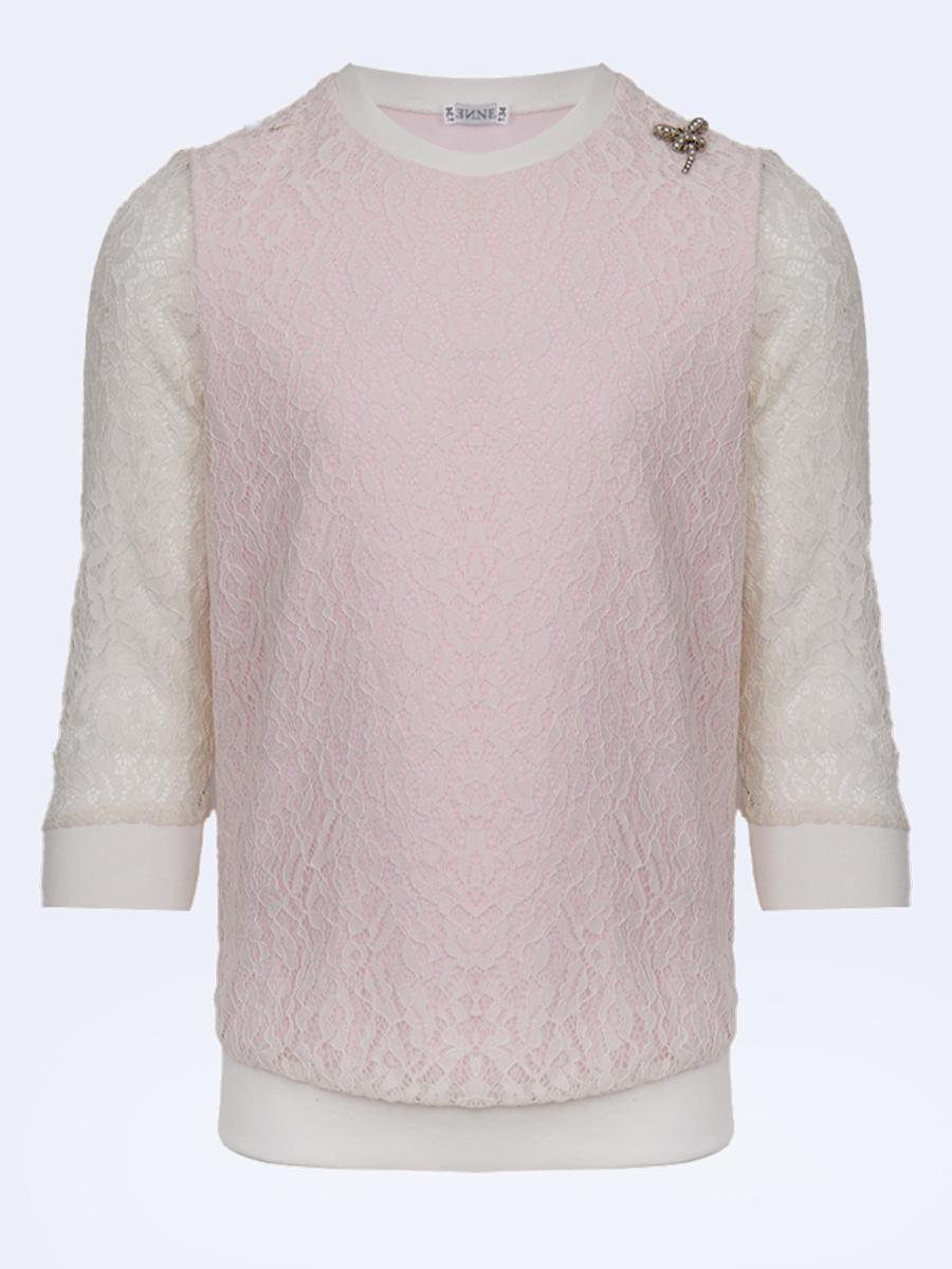 Блузка полуприлегающего силуэта, цвет: светло-розовый