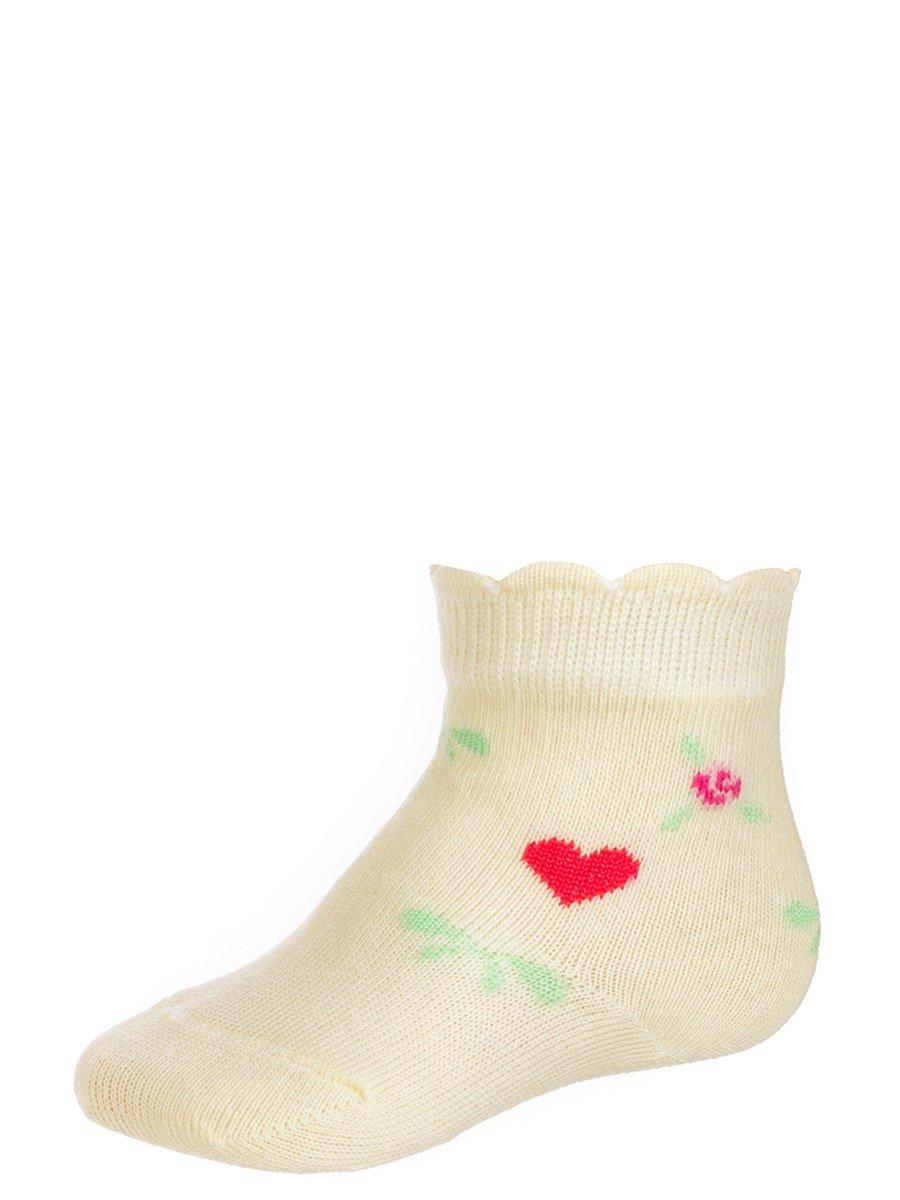 Носки для девочки, цвет: желтый