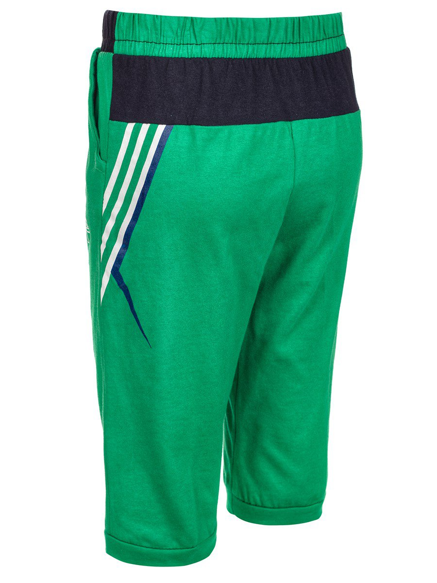Бермуды для мальчика, цвет: зеленый