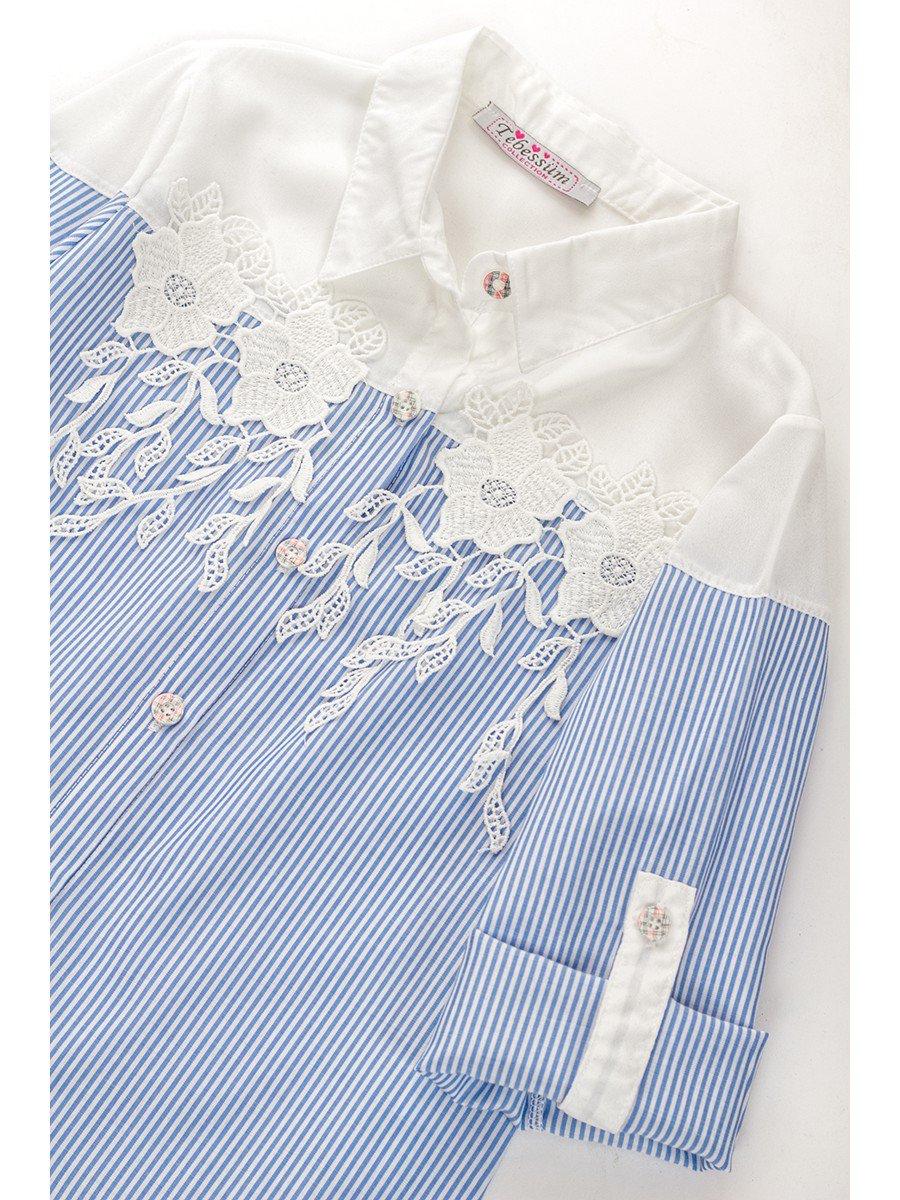 Блузка для девочки приталенная