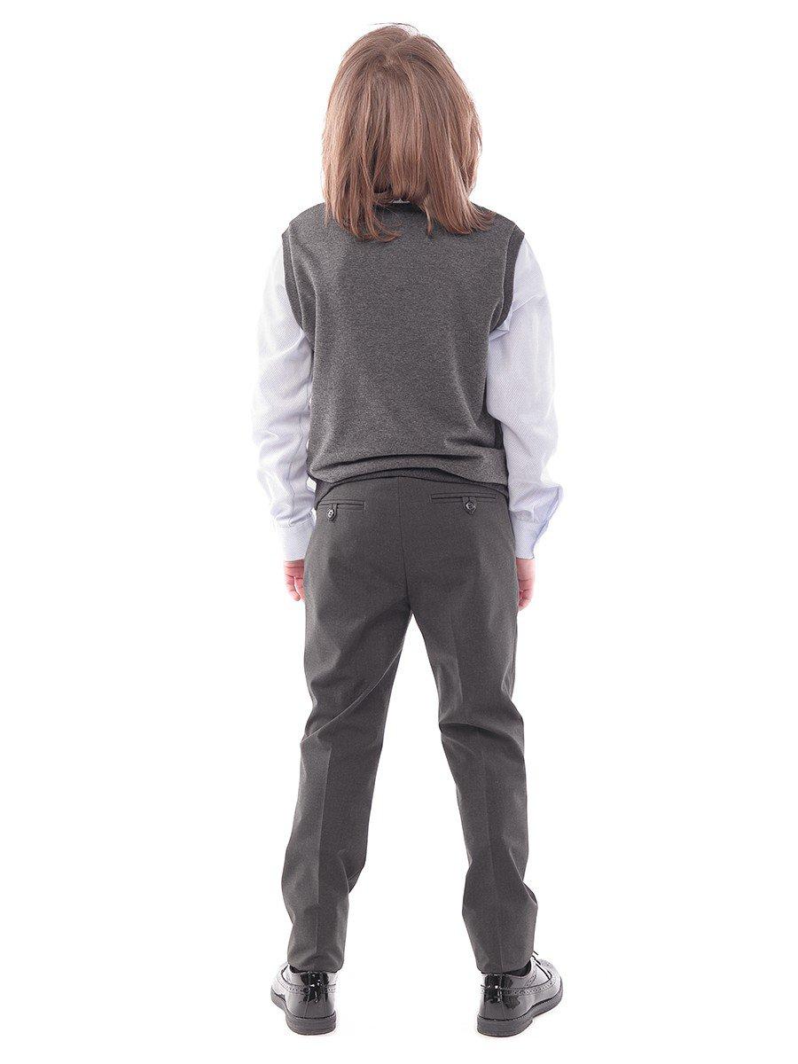 Жилет прямого силуэта для мальчика, цвет: темно-серый