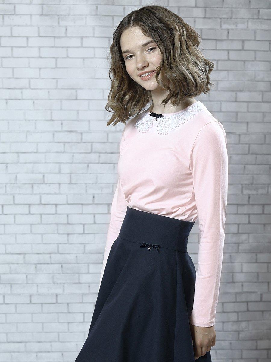 Блузка трикотажная для девочки, цвет: светло-розовый