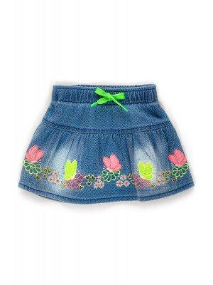 Юбка джинсовая с вышивкой для девочки