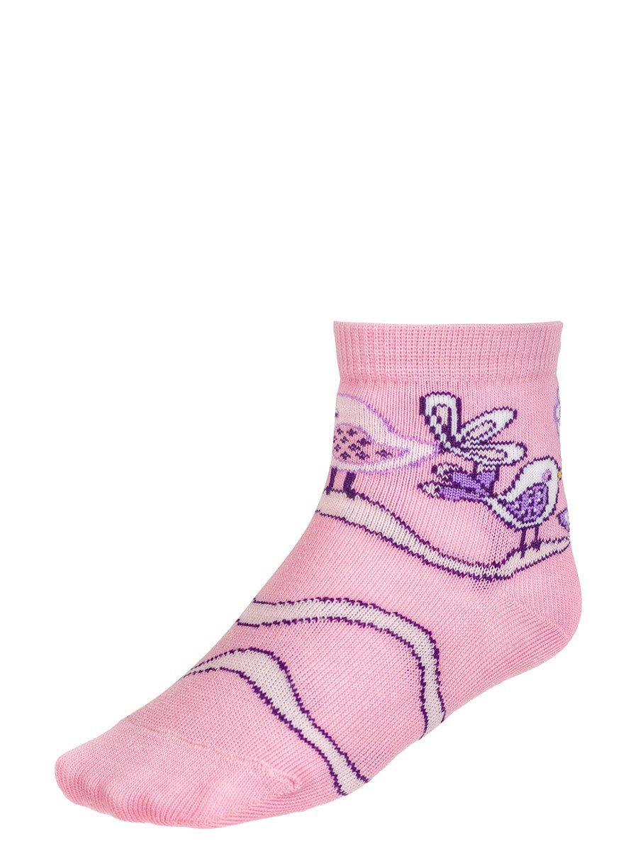 Носки для девочки, двойной борт, цвет: светло-розовый