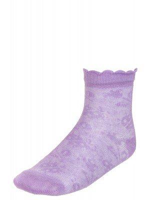 Ажурные носки для девочки, борт пикот