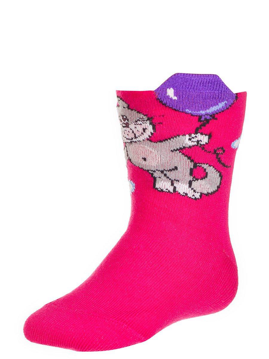 Носки детские с элементами 3D рисунка, цвет: розовый