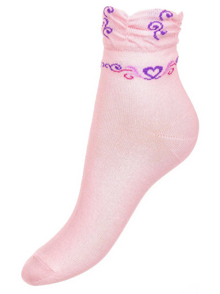 Носки для девочки с мелким рисункам, цвет: светло-розовый
