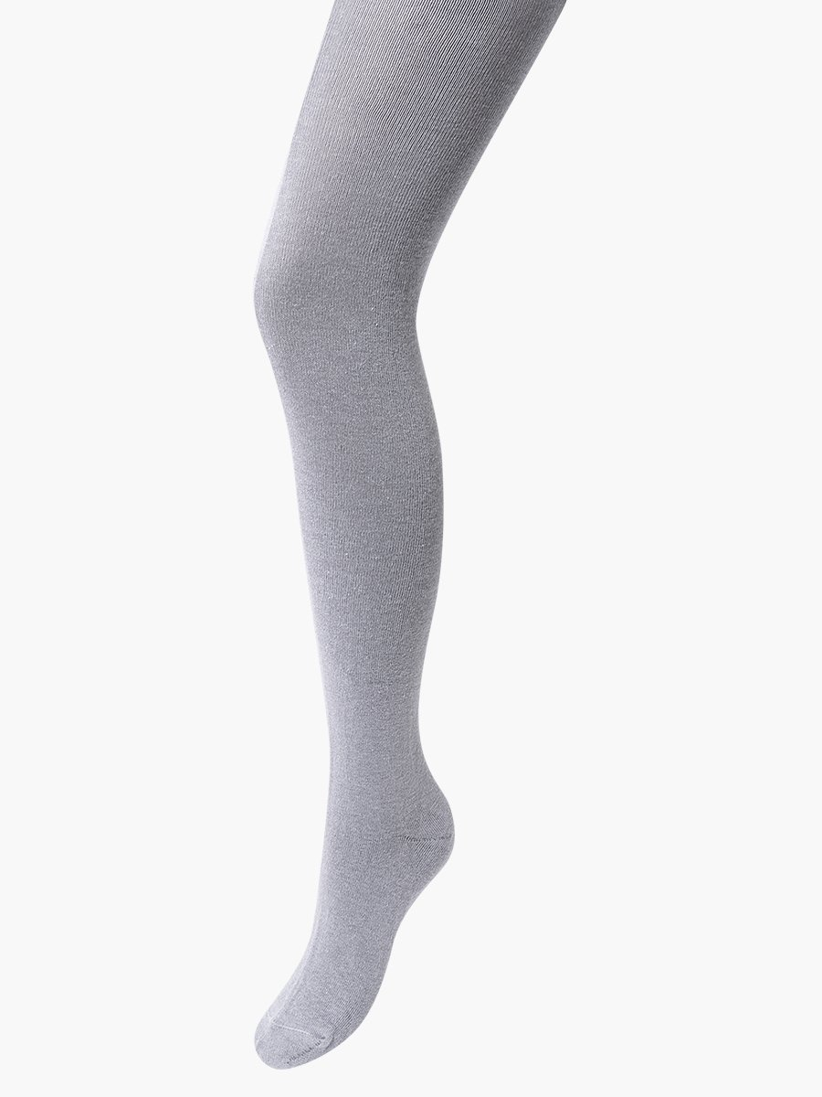 Колготки для девочки однотонные гладкие, цвет: светло-серый