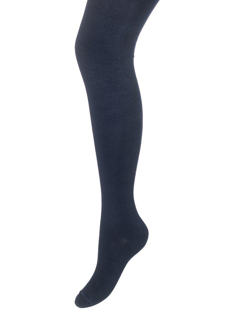 Колготки для девочки однотонные гладкие, цвет: темно-синий