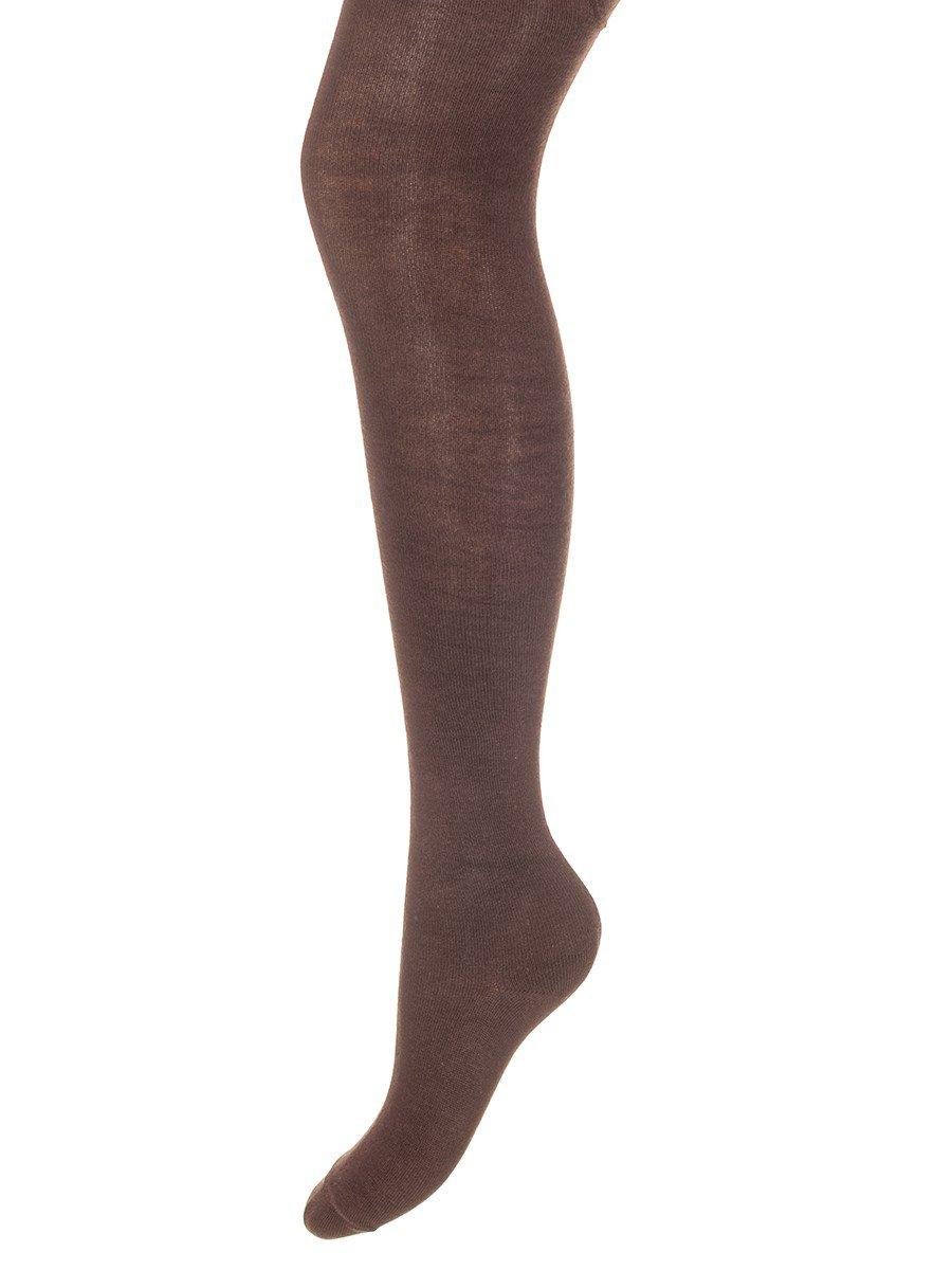 Колготки для девочки однотонные гладкие, цвет: коричневый