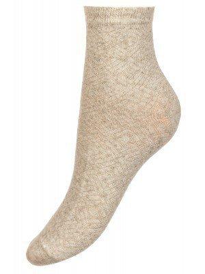 Носки для девочки из льна и хлопка, с ажурным рисунком
