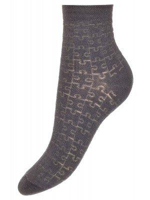 "Носки для мальчика с ажурным рисунком ""пазл"""