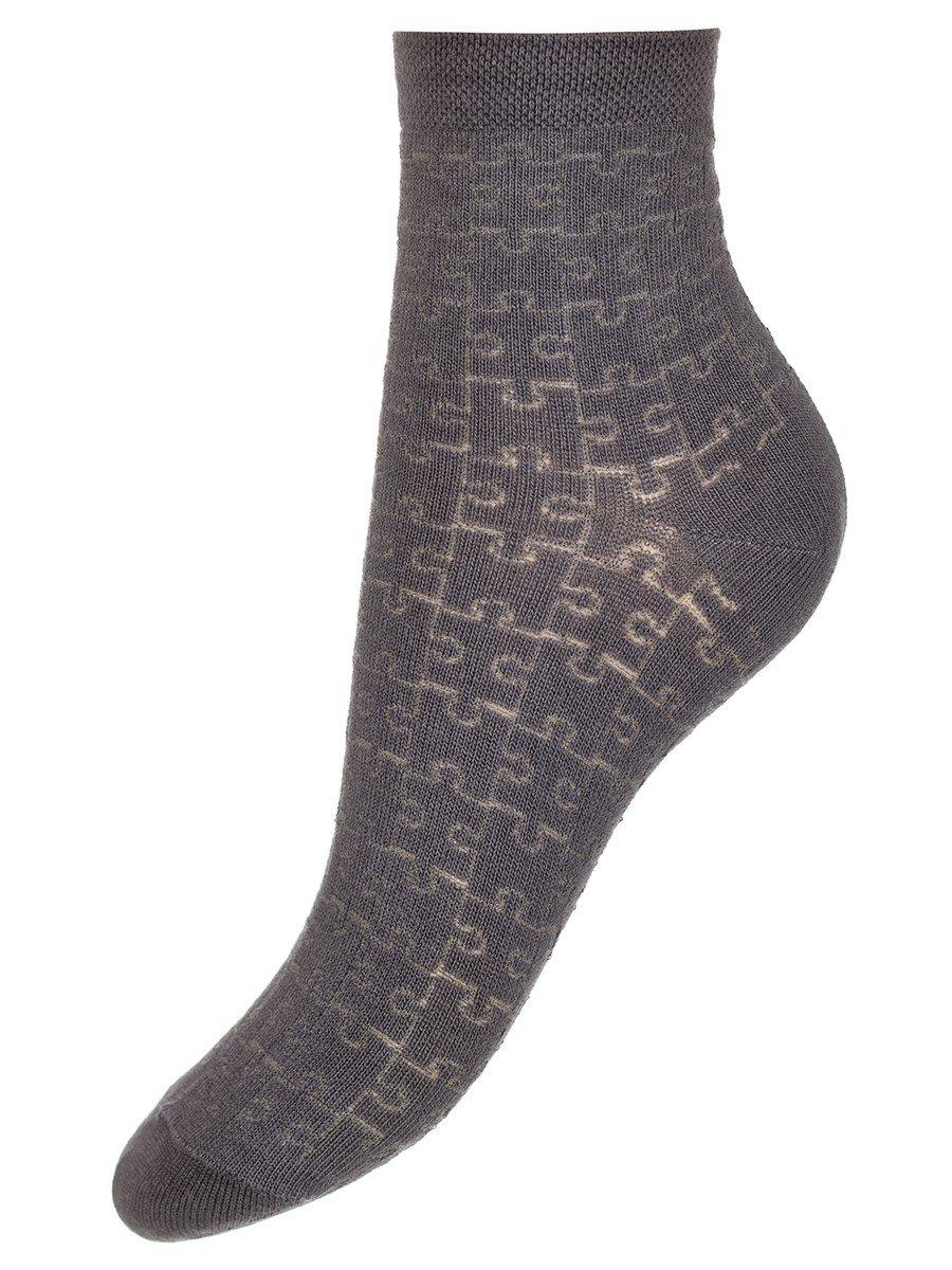 """Носки для мальчика с ажурным рисунком """"пазл"""", цвет: серый"""