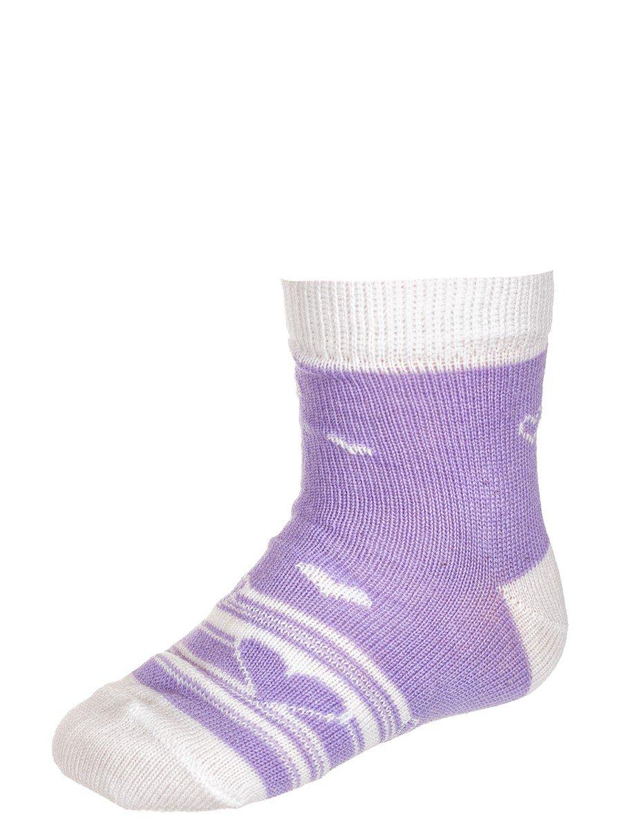 Носки для девочки, цвет: сиреневый