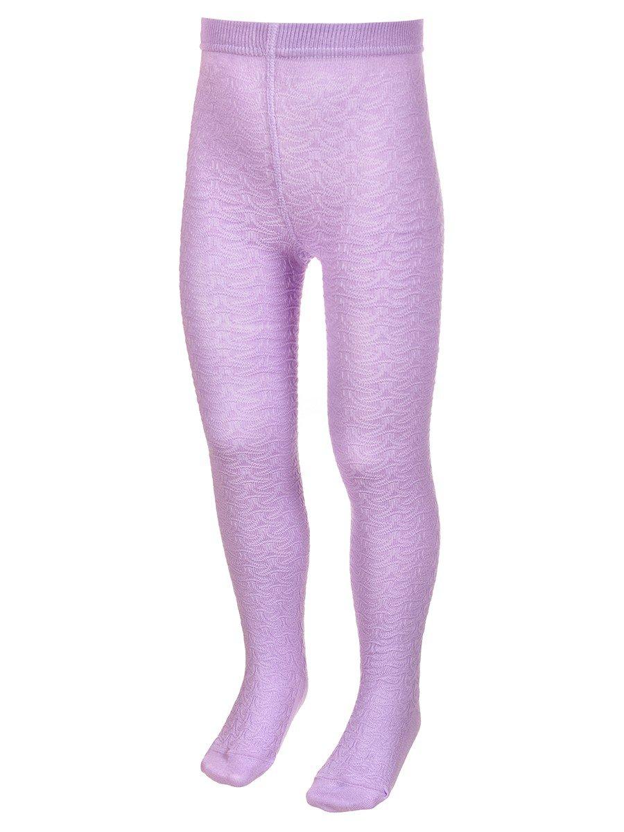 Колготки для девочки с рельефным переплетением, цвет: сиреневый