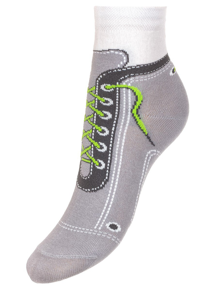 """Носки для мальчиков из коллекции """"Космико"""", цвет: светло-серый"""