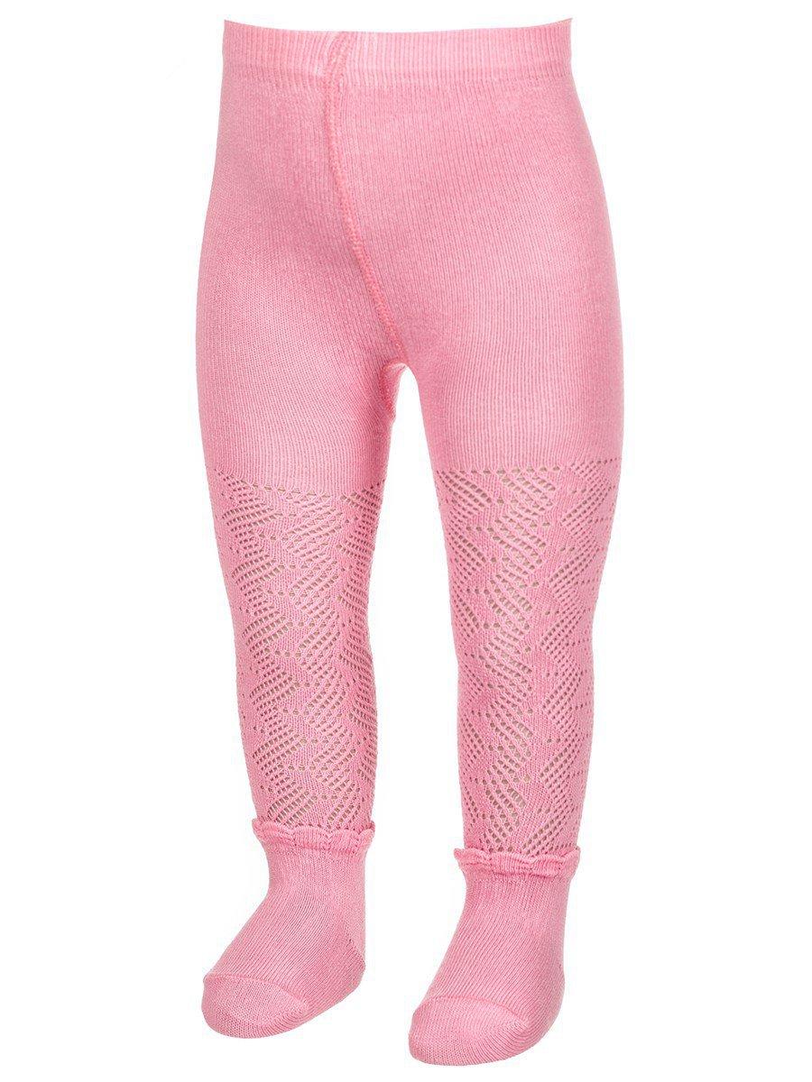 Ажурные колготки для девочки с имитацией носочков, цвет: желтый
