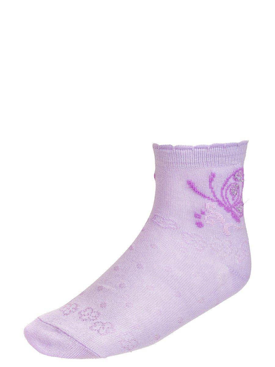 Носки для девочки с ажурным рисунком и люрексом