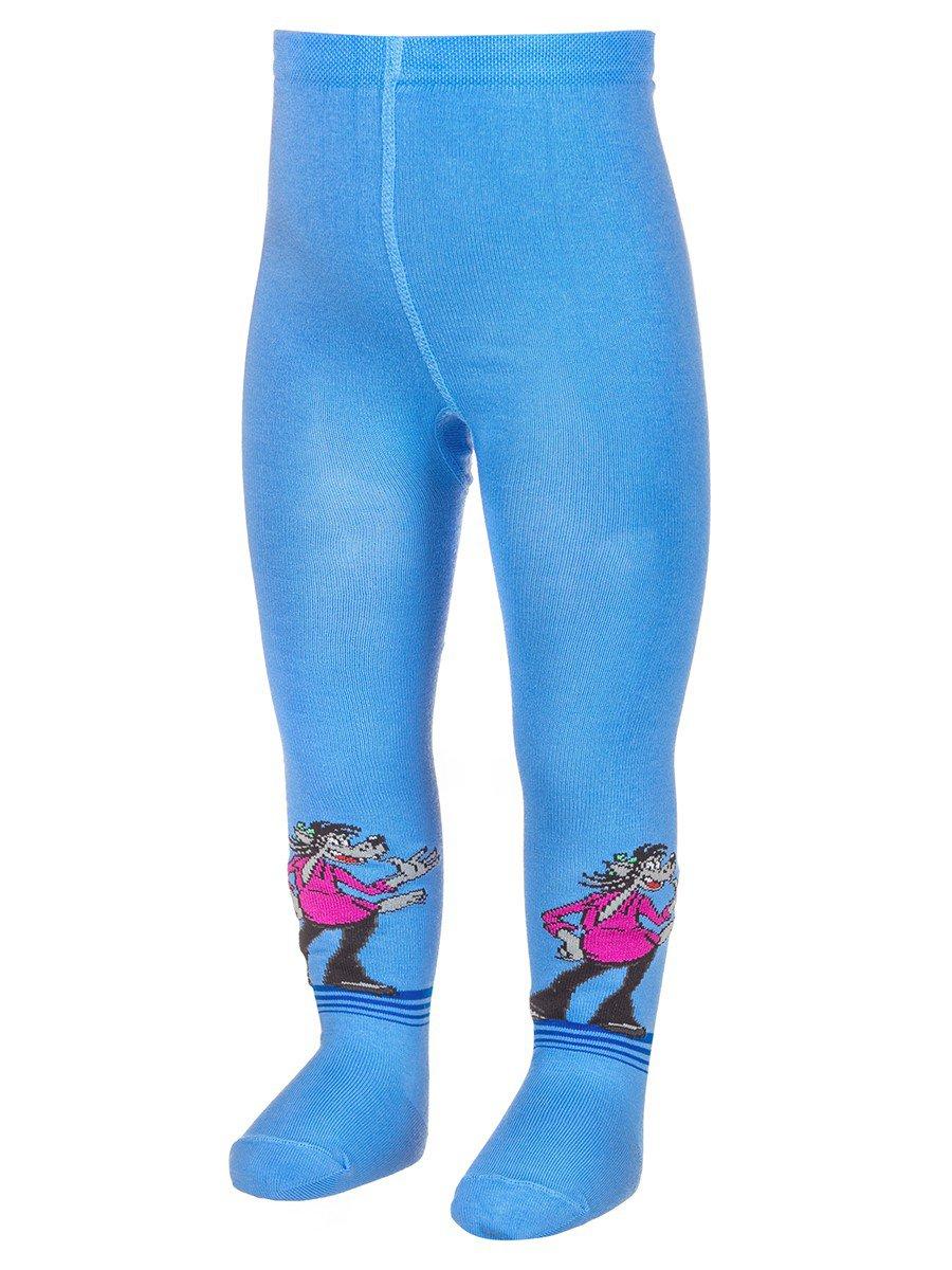 Детские колготки с персонажами из мультфильма «Ну, погоди!», цвет: голубой
