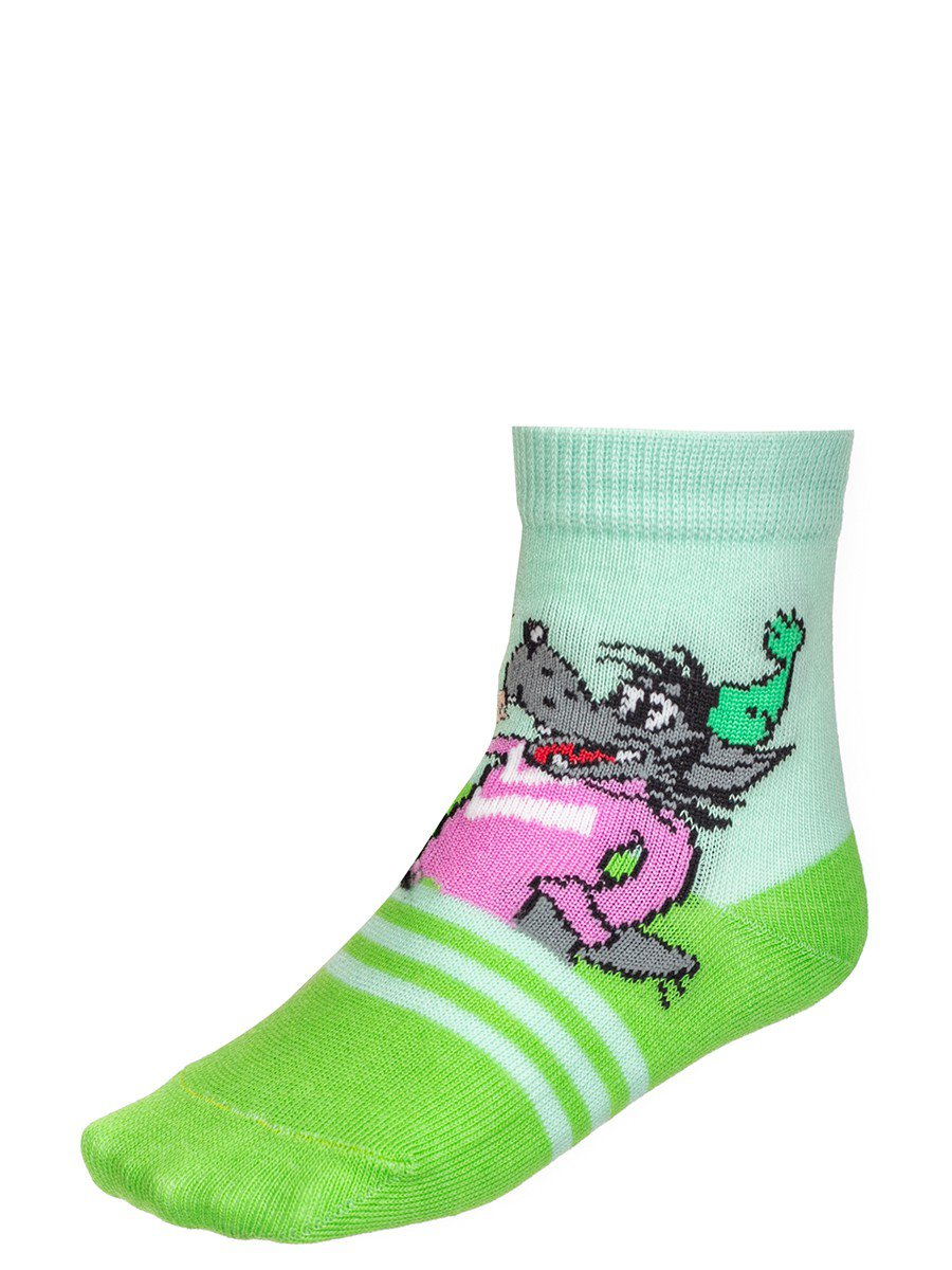 Детские носки из коллекции , цвет: салатовый