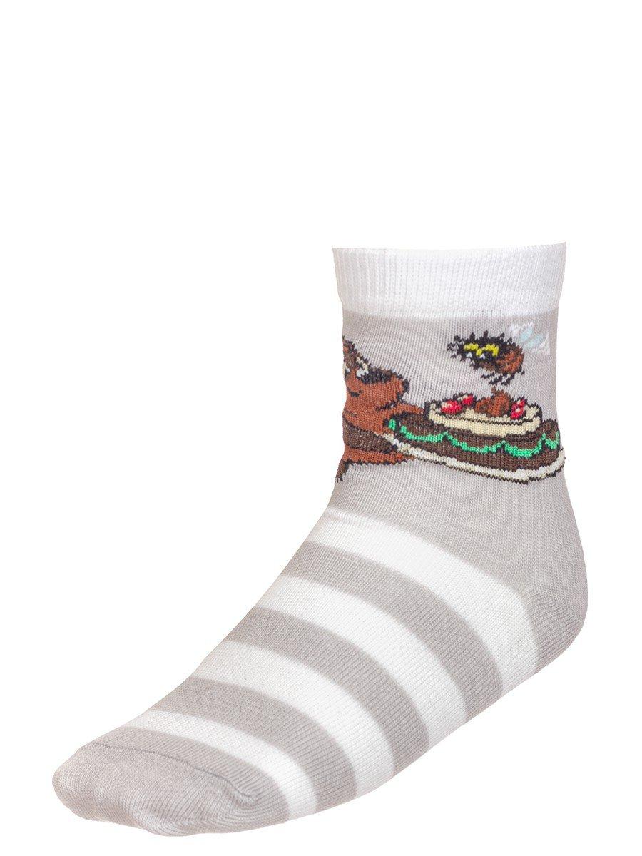 """Носки из коллекции """"Винни-Пух"""", цвет: светло-серый"""