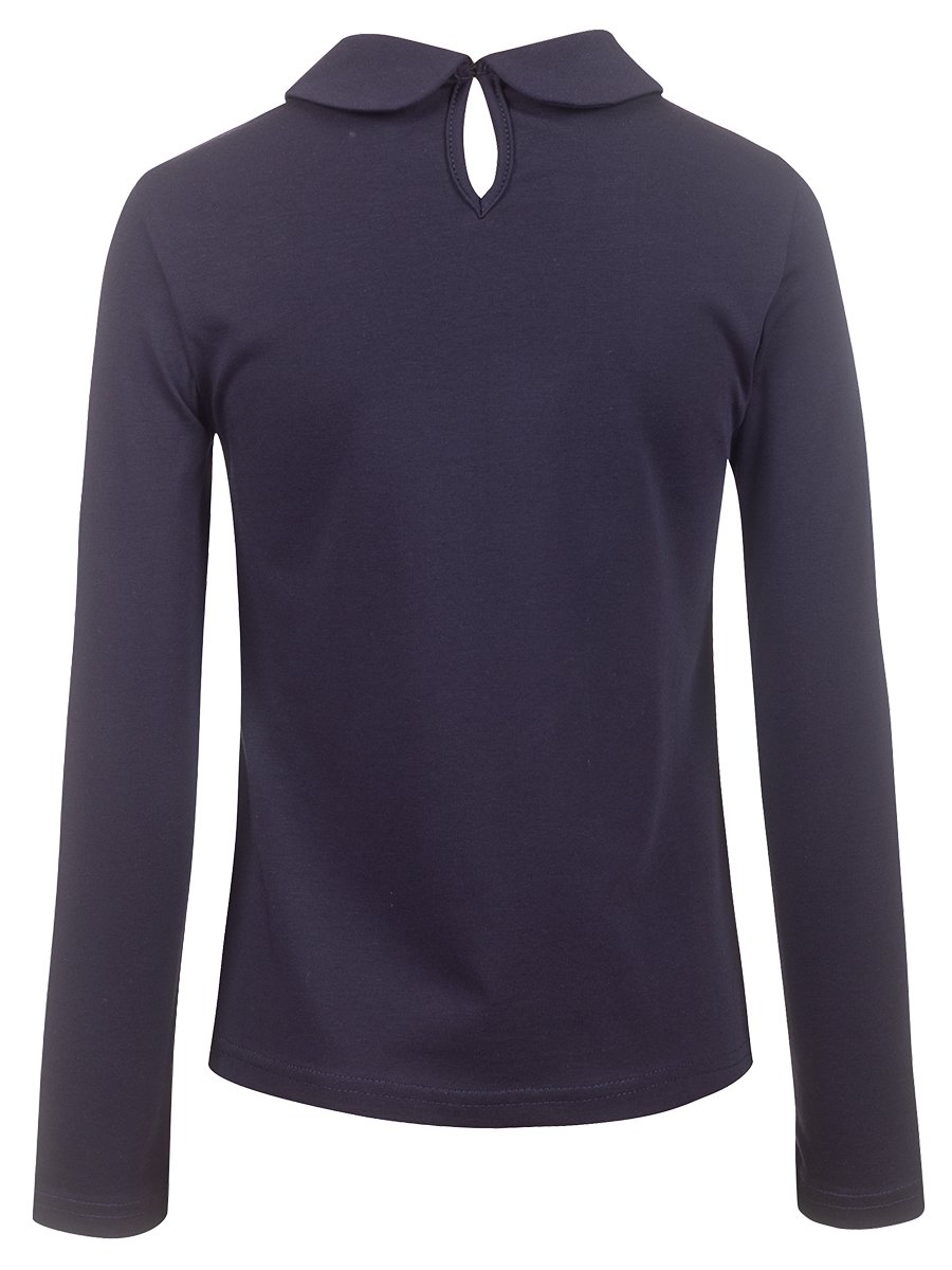 Блузка для девочки, цвет: темно-синий