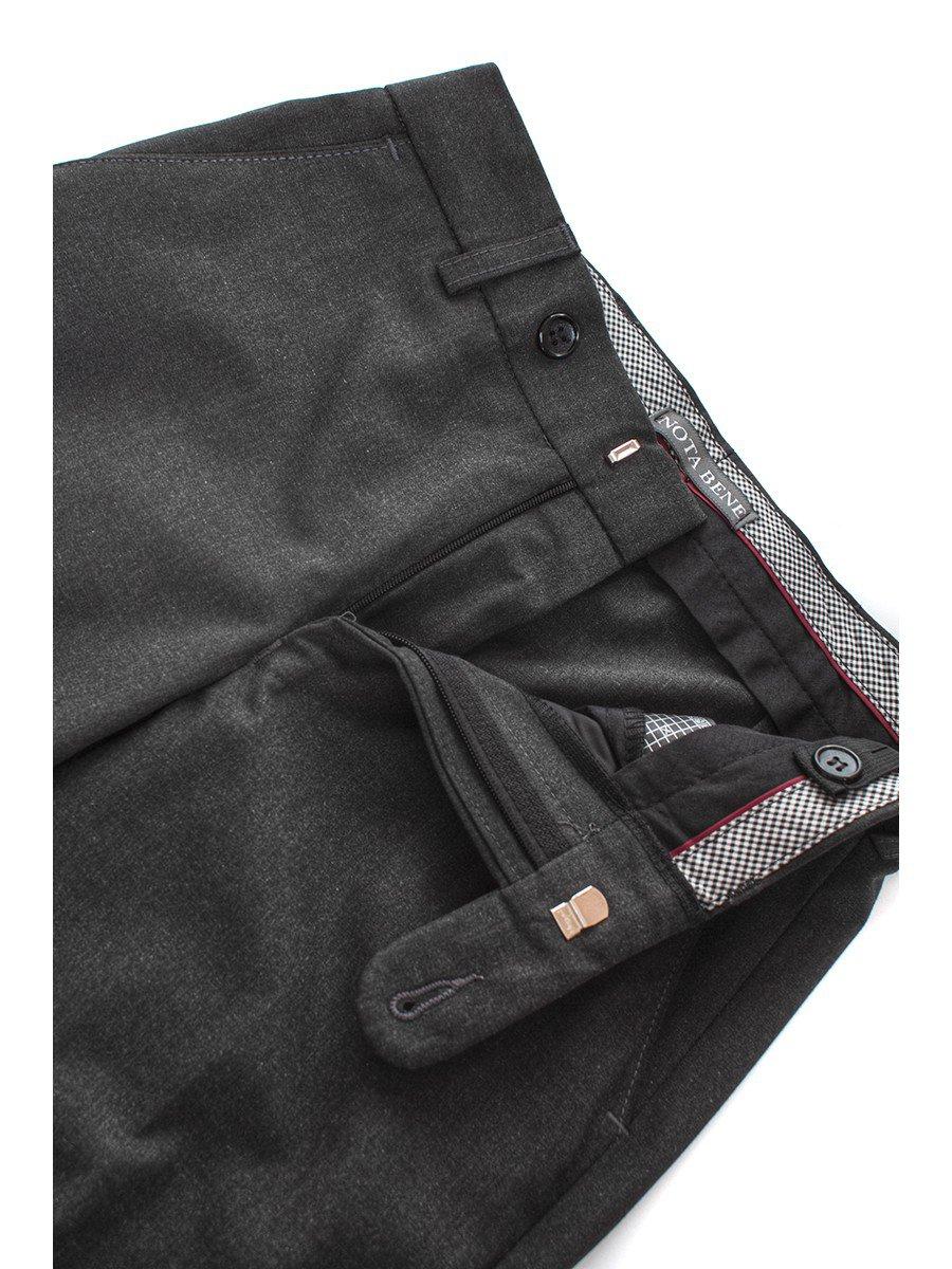 Брюки текстильные для мальчика классические, цвет: серый