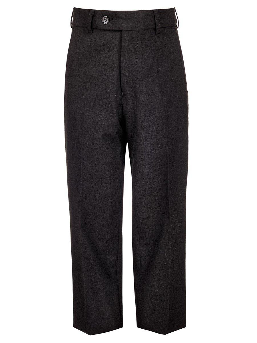 Брюки текстильные для мальчика классические, цвет: черный