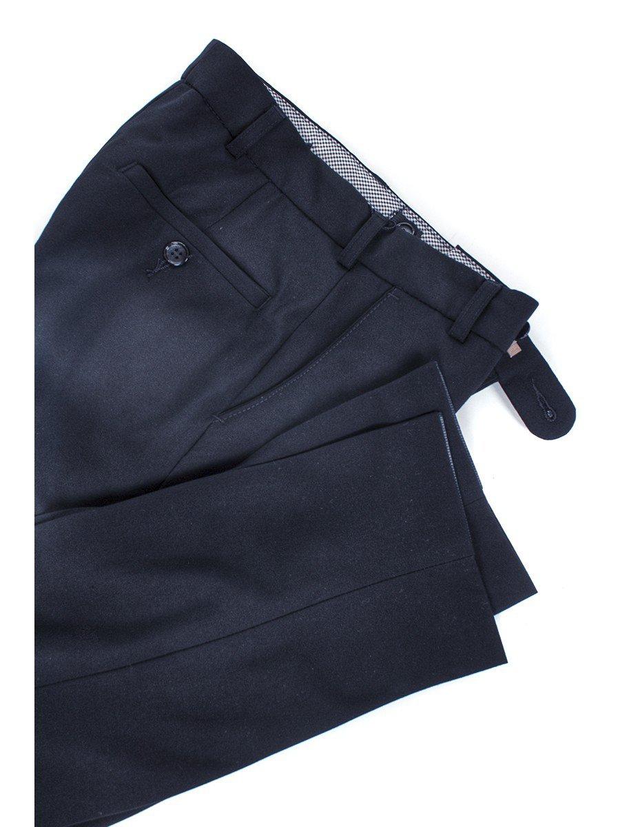 Брюки текстильные для мальчика классические, цвет: темно-синий
