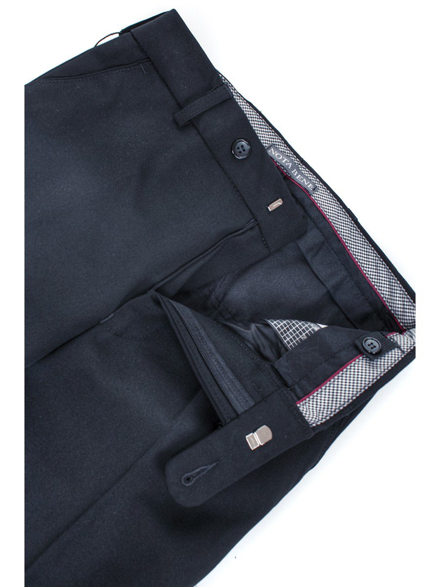Брюки текстильные для мальчика зауженные к низу, цвет: темно-синий