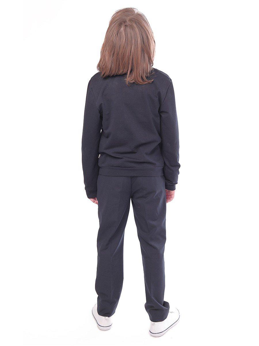 Брюки текстильные для мальчика зауженные к низу, цвет: серый
